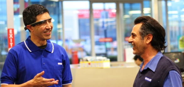 We used Google Glass to create a store tour for our customers.