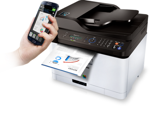 Samsung's new NFC Printers let you print straight from your mobile device.