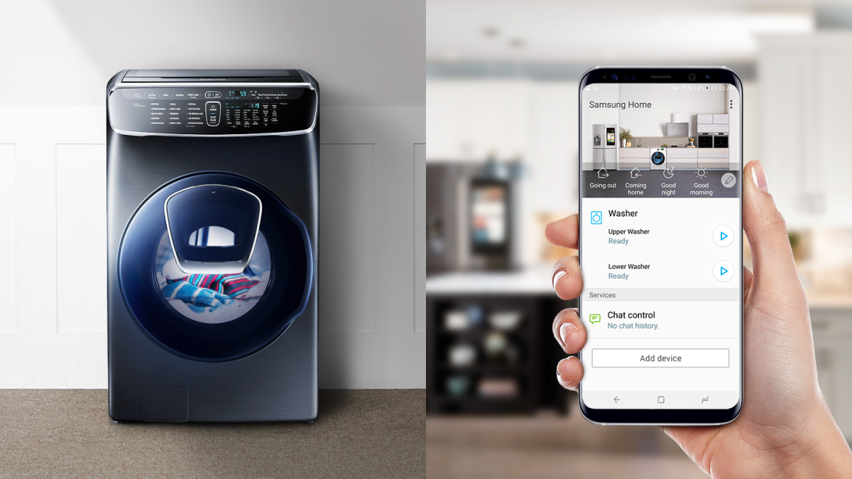 Getting the best of both worlds with Samsung's FlexWash washing machine